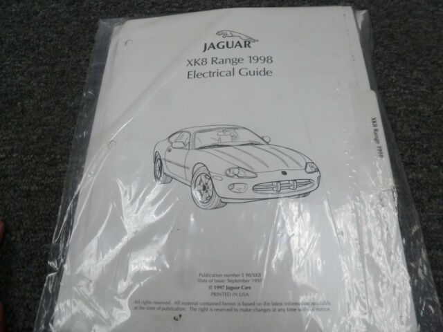 1998 Jaguar Xk8 Coupe Convertible Electrical Wiring