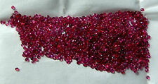 1.1-1.7 mm Round Faceted Natural Mined Rubies 1 Carat Lots  (22-28 + stones)