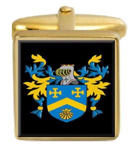 Torschütze England Familie Wappen Heraldik Manschettenknöpfe Schachtel Set
