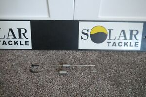 SOLAR STAINLESS QUIVER LOC HINGED SPRING ARMS X2 USED CARP FISHING TACKLE GEAR