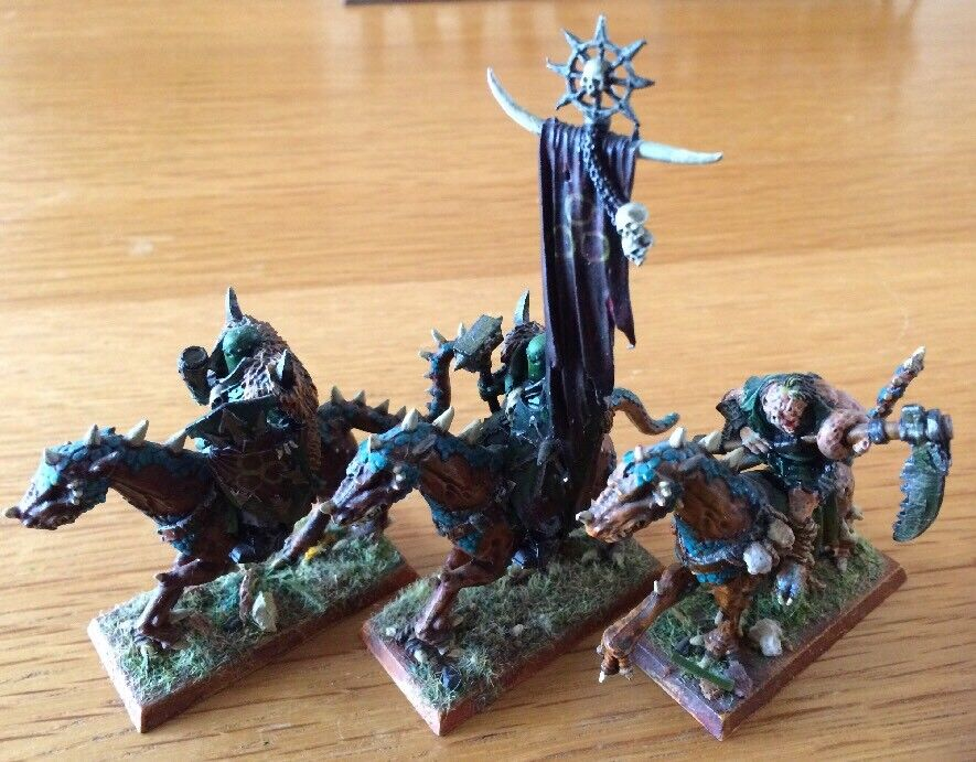 Warhammer AOS Metal Miniatures Chaos Knights Mounted PRO Painted Lot Of 3