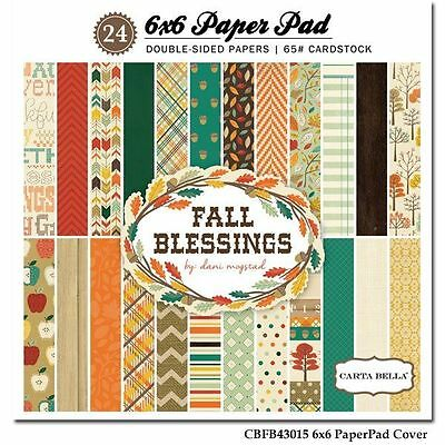 "CARTA BELLA ""FALL BLESSINGS"" 6X6 PAPER PAD AUTUMN THANKSGIVING SCRAPJACK'S PLACE"