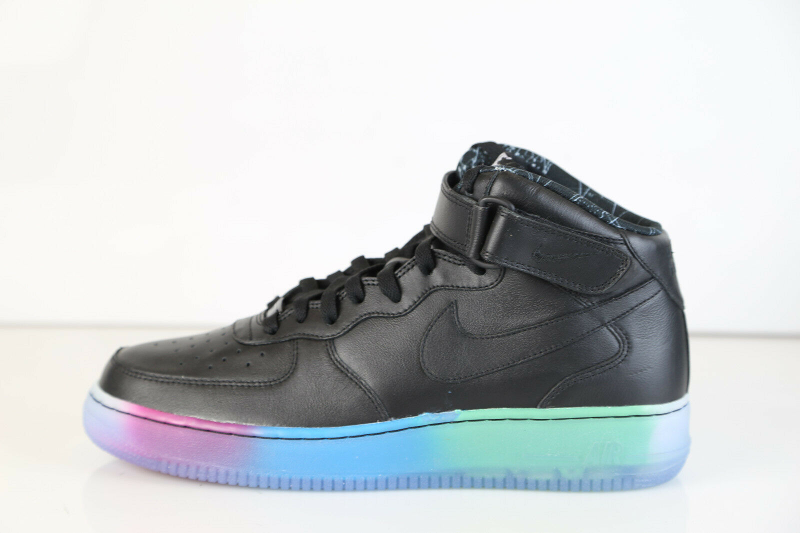 Nike Air Force 1 Mid Premium iD All Star Noir Multi Color Fade Sole 10 af1 as