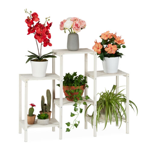 Blumenregal Holz Blumentreppe Pflanzenleiter Kräuterregal Blumenbank Pflanzregal