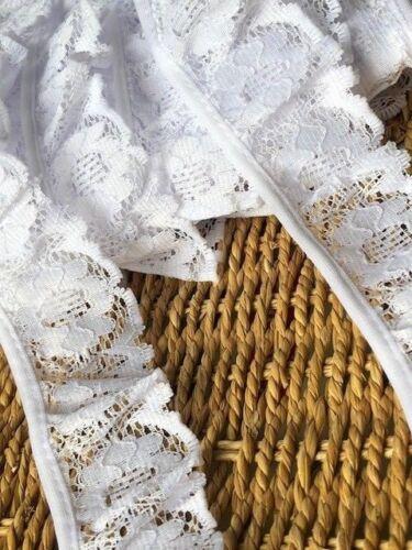 """Laverslace Calidad Blanco Floral se reunieron Nottingham Ribete de Encaje 1.75/""""//4.5cm"""