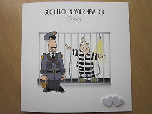 Personalised Handmade Good Luck Leaving New Job Card