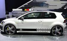 Decal sticker Stripes kit For Volkswagen Golf Mk4 Mk5 Mk6 Mk7 Gti R32 lowering 2