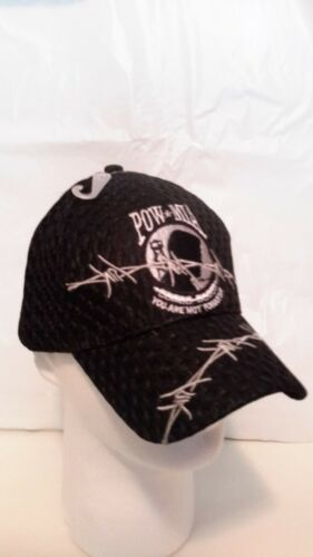 POW MIA Barb Wire Hat Cap Adjustable Cap Baseball Hat You Are Not Forgotten