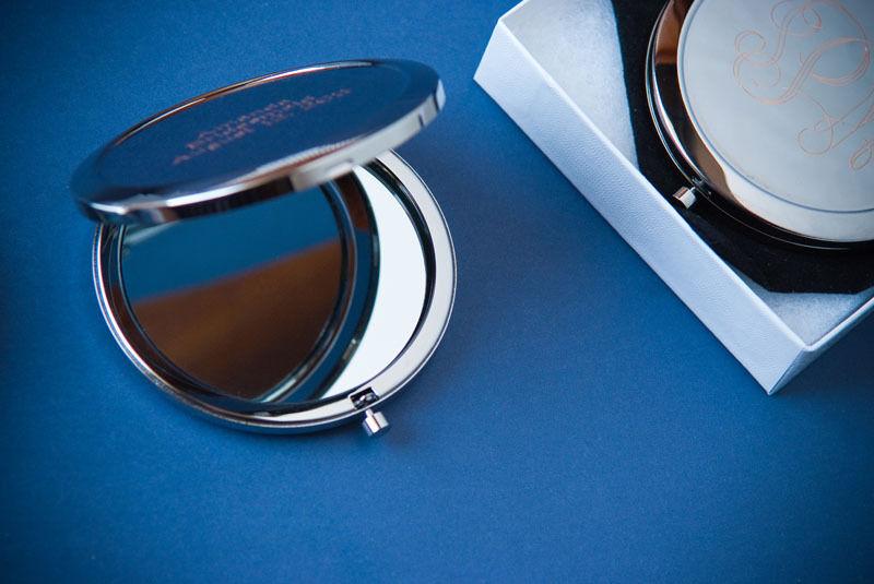 6 Personnalisé Compact miroirs bridsmaid cadeaux gratuit Personnalisé Gravure