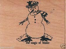 Papercraft4you Mary Hughes Winter Schneemann Gummi Stempel Holz Holzblock