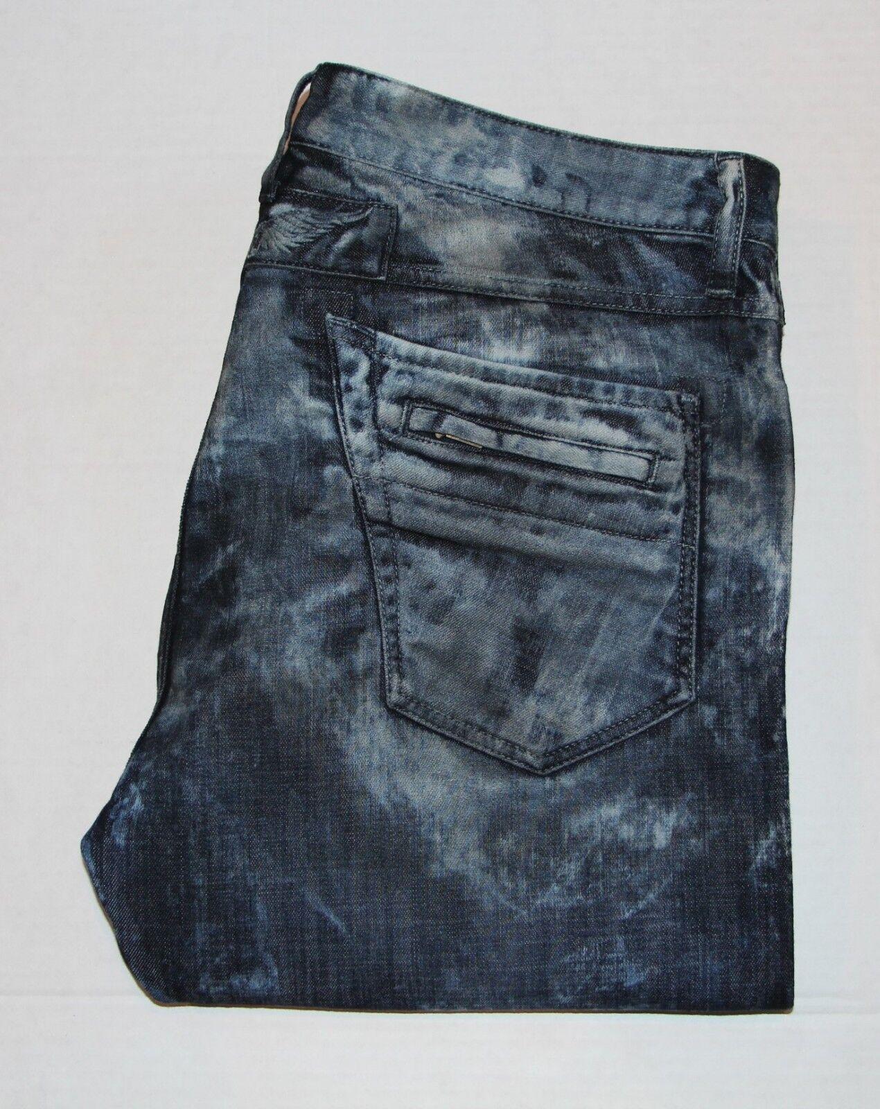 New Men's ROBIN'S JEAN sz 40 Style  SPAC5475 MOTARD -Acid Wash Jeans