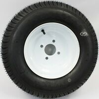 Loadstar 4-hole 10 X 6 White Trailer Wheel And Tire 20.5x8-10 4ply 410284