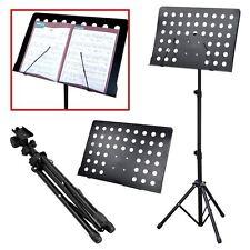 Soporte partituras orquestales Heavy Duty Trípode Ajustable Plegable conductor Bas