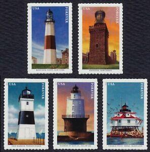 #5621-5625 Mid-Atlantic Faros , Individuales, Nuevo Cualquier 5=