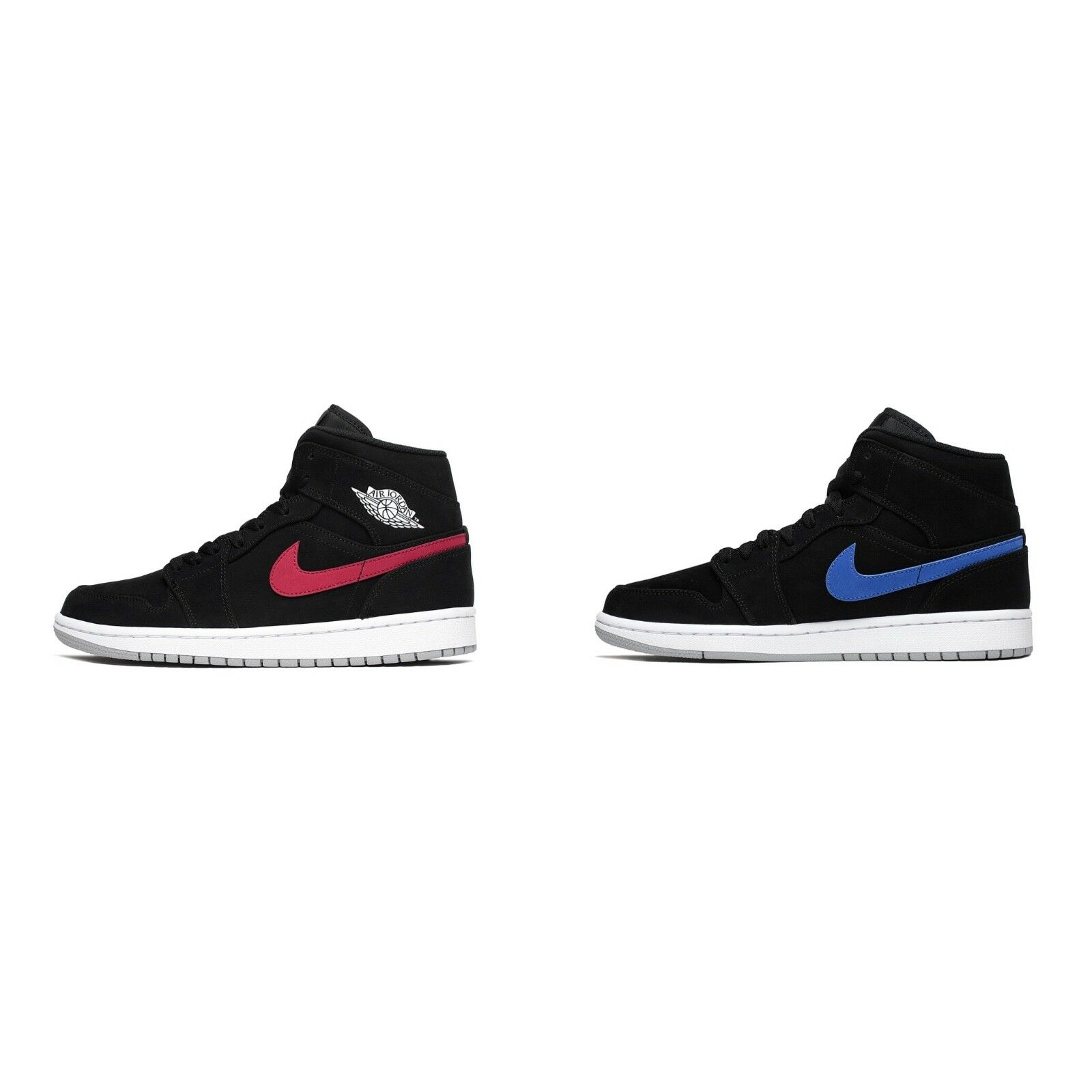 Nike Air Black Jordan Retro 1 Mid Black Air University Red Blue 554724-065 Size 8-13 d21afc