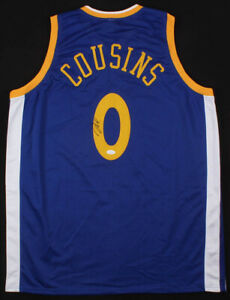 more photos dce57 1ce3b Details about DeMarcus Cousins Signed Golden State Warriors