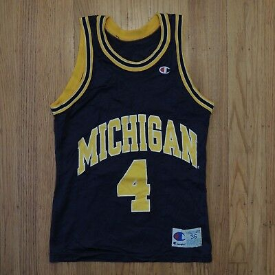 huge discount 810c0 42f99 Chris Webber Michigan Fab 5 Jersey Vintage Champion Blue ...