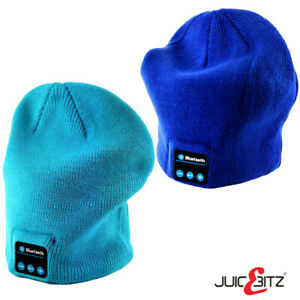 Bluetooth Beanie Hat Music Cap Fashionable Bluetooth Wireless Speaker Blue Teal