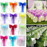 25/50/100pcs Organza Chair Cover Sashes Wedding Party Banquet Bow Decoration New
