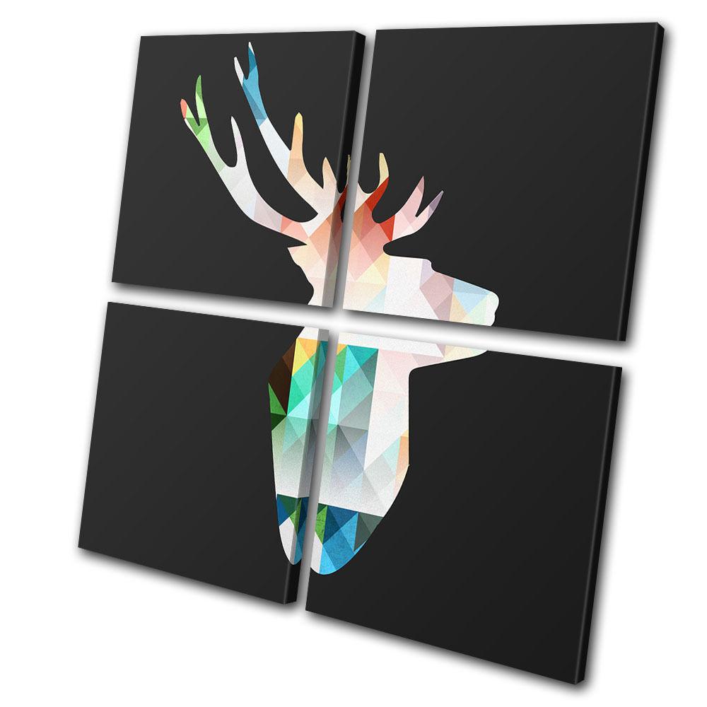 Animals Deer pa Elk Geometric  MULTI LONA pa Deer rojo  arte Foto impresion 676c64