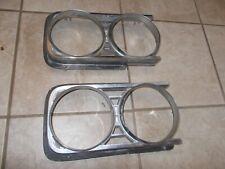 1964 64 Buick Skylark Special Chrome Headlight Bezel Trim Pair