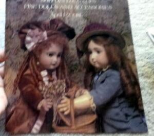 Sothebys Auction Catalog 1981 Dolls Fine Dolls And Accessories Ebay
