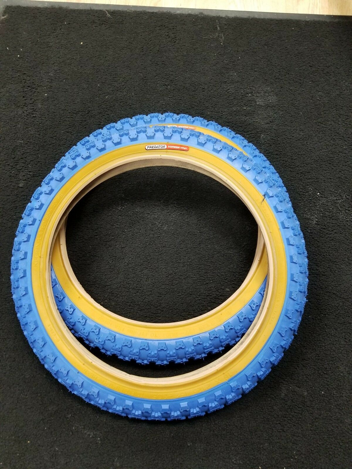 Old School NOS  SCHWINN PREDATOR 16 X 2.125 bluee comp 3 tires pit bmx bike pair  wholesale cheap