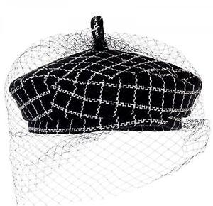 Female-Beret-Winter-Warm-Flat-Cap-Black-Berets-Wool-Hat-With-Veil-For-Women