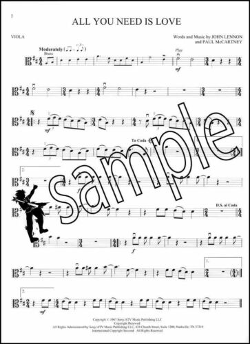 The Beatles Instrumental Play-Along for Viola Sheet Music Book with Audio