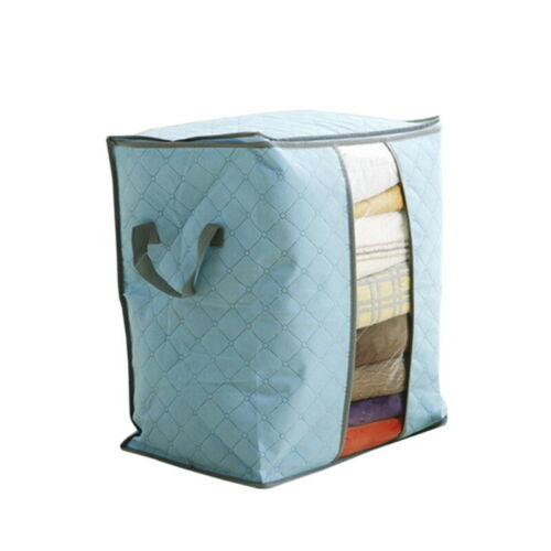 US Capacity Dust-Proof Clothes Storage Bag Clothing Pillow Quilt Organizer