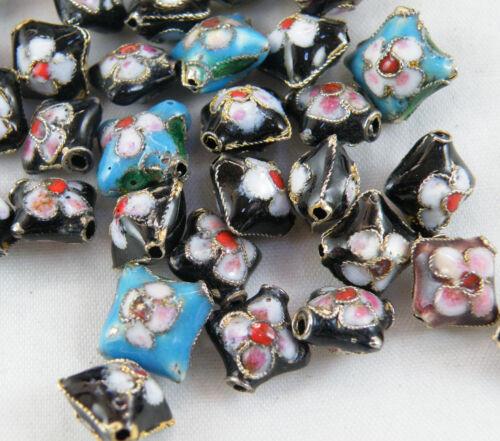 1 O82 Cloisonne enamel Mixte perles//entretoises//Charms 36 Style