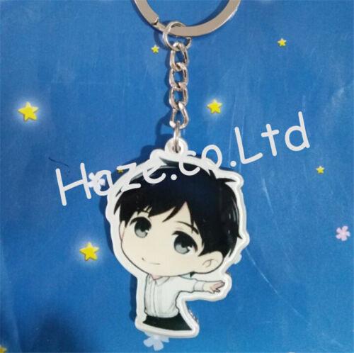on ICE Single Side Keychain Acrylic Keyring Pendant Kids Gift Cartoon YURI!!