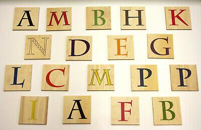 Namen UV Holz Deko Wanddeko Direkt Druck Wandbuchstabe Scrabble