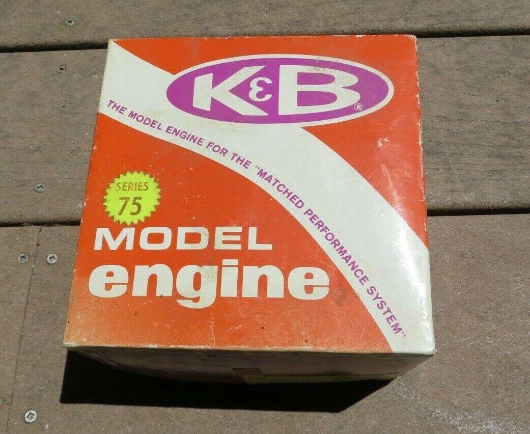 VINTAGE K&B  .61 R C SERIES 75 modellololo AIRPLANE GLOW PLUG ENGINE nuovo w  scatola  prezzi più bassi