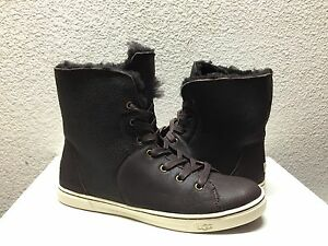d586131aac1 Details about UGG CROFT SHORT SHEARLING CHOCOLATE ANKLE SNEAKERS SHOE US 8  / EU 39 / UK 6.5
