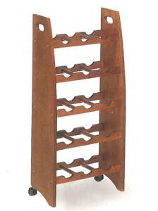 Cantinola Porta Bottiglie in Legno Massello Colore Noce Scuro. | eBay