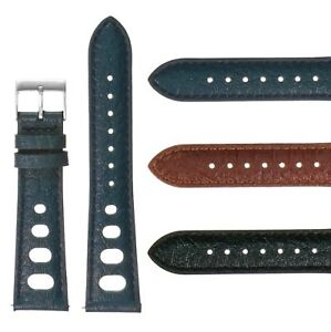 DASSARI-Vintage-70-039-s-Heuer-Style-Leather-Rally-Strap-Quick-Release-Watch-Band