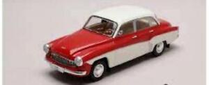 Whitebox WHI 124059 Wartburg 312 Red/White 1/24th Scale T48 Post