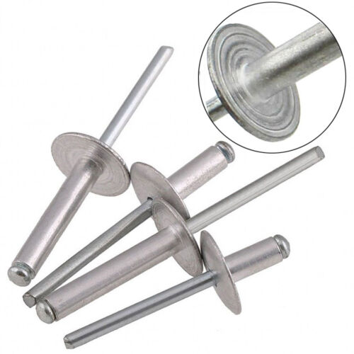 Head Rivet 8~25mm Aluminium Open Blind Rivet 16mm M5//5mm Extra Large Flange
