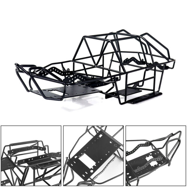 Black Steel Roll Cage Chassis Frame For Axial Wraith 90018 1//10 RC CarAccessory❤