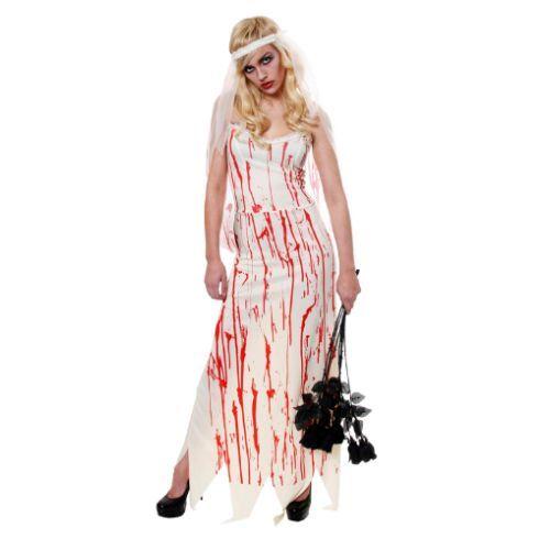 Ladies Dead Corpse Zombie Bride Halloween Fancy Dress Costume Outfit