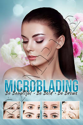 Microblading Semi Permanent Makeup Microshading 3D Embroidery Eye Brows Poster 4