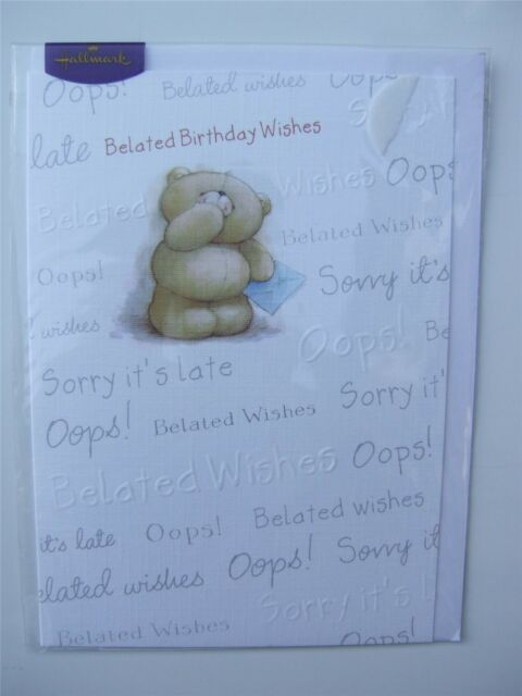 Forever Friends BELATED Birthday Wishes Card For Any Age By Hallmark
