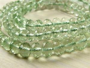 AAA-Green-AMETHYST-12mm-to-6mm-2-Micro-Faceted-Rondelle-Beads-Select-a-size