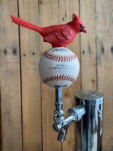 St-Louis-Cardinals-Tap-Handle-Beer-Keg-Used-Rawlings-MLB-Baseball-Red-Bird