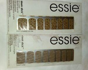 2-Essie-SLEEK-STICK-UV-CURED-NAIL-APPLIQUE-IN-DON-039-T-CHEETAH-ON-ME-amp-CROC-039-N-CHIC