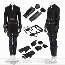 Captain America 3 Civil War Black Widow Costume Natasha Romanoff Costume FULL  sc 1 st  eBay & Disney Black Widow Costume for Kids Captain America Civil War Size 3 ...