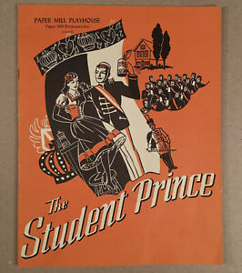 Millburn-NJ-1952-PAPER-MILL-PLAYHOUSE-Playbill-Program-THE-STUDENT-PRINCE