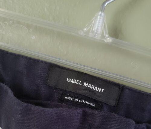 blu donna colorblock bianco Pantaloni Tuxedo skinny 36 Marant Isabel Pantaloni 6wx8qUHH