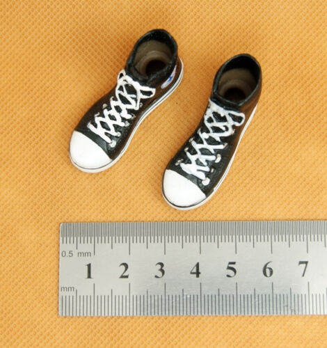 holes for ankle connectors X14-01 1//6 HOT ZCWO Black Female Shoes Sneaker TOYS